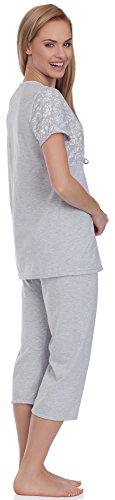Be Mammy Femme Pyjama Maternité BE20-115 Gris
