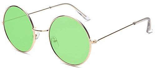 ALWAYSUV Runde Rahmen Vintage John Lennon Sonnenbrille Brillenfassung Hippe Brille