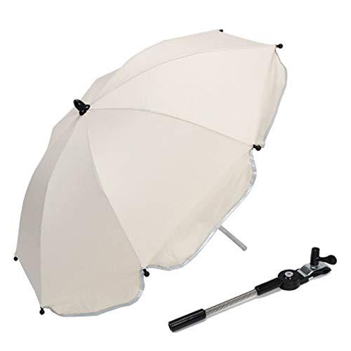 Yy Kinderwagen Regenschirm 70Cm Kinderwagen Stuhl Schirm Sonnenschutz Markise UPF50 + Anti-UV Sonnenschirm Baldachin Universal Fit für Kinderwagen Carriage Seat,White