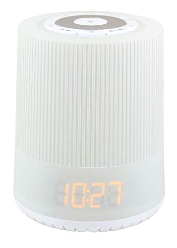 Soundmaster UR230WE UKW-PLL Uhrenradio LED Nachtlicht Aufwachlicht Dualalarm