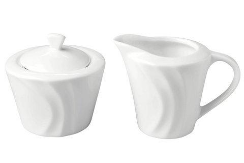 Milch & Zucker Set; Porzellan, weiss, aus der Serie 016388,