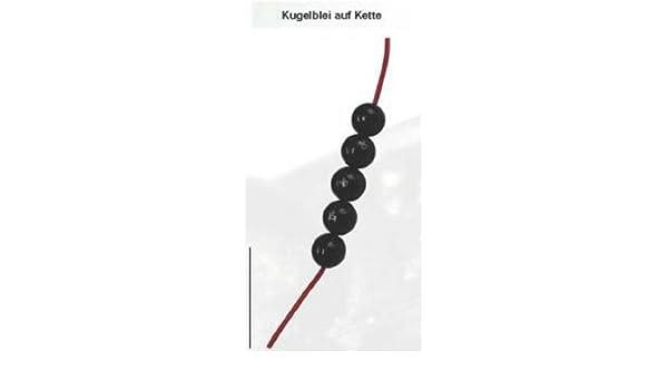 FTM Kugelblei auf Kette 1,0g schwarz Inhalt 5 St/ück