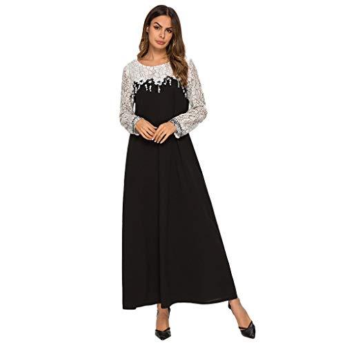 Cebbay Frauen Plus Size Muslimische Arabische Islam Nahen Ostens Langärmliges Ethnisches Kleid Rock ()