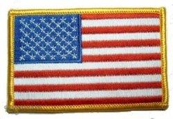 USA 8,8 x 5,8 cm-motif drapeau bügelbild écusson drapeau avec blason