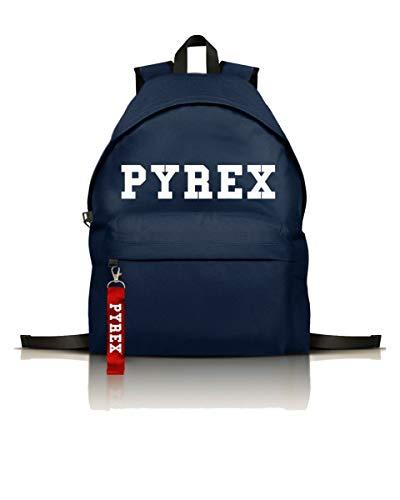 Pyrex kids zaino basico con logo, unica, blu