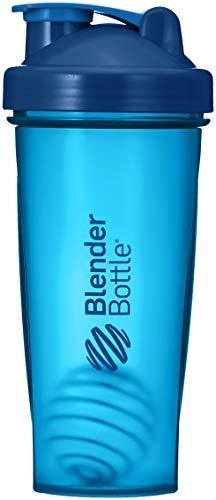 BlenderBottle Classic Shaker | Eiweiß Shaker | Diät Shaker | Protein Shaker mit Blenderball 820ml - Navy