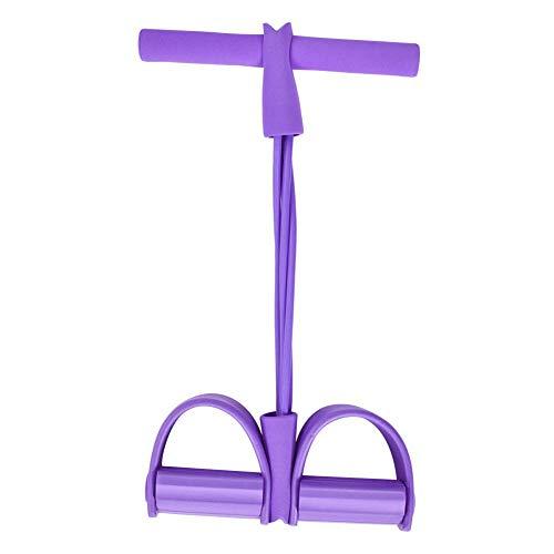 auch, hochfeste elastische Sit-ups Widerstandstraining Bands Arm Bauch Expander Krafttrainer Rohrpedal-Abzieher für Heimtrainings(4) ()