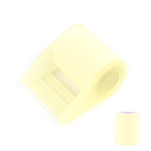 Fünf Bee 3 PCS Premium Candy Farbe Länge steuerbare Full selbstklebend Rolle Sticky Notes, Posted Noten mit Manuelle Washi Tape Spender sticker 2 in x 315 in; tape dispenser 2 in x 3 in gelb