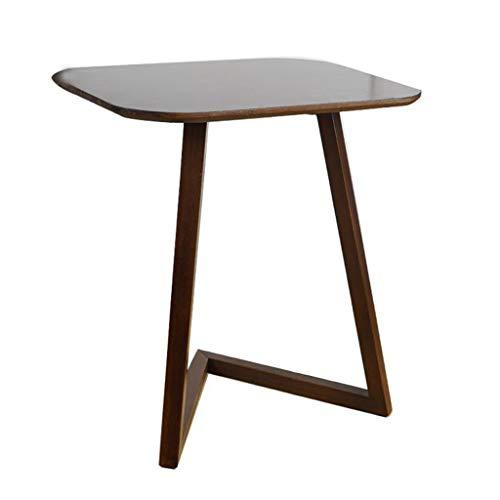 Land Frühstückstisch (Ppy778 Couchtisch | Nachttisch Computertisch einfacher Frühstückstisch Schlafzimmer mobiler Kleiner Schreibtisch Laptoptisch (Color : Walnut Color, Size : 60X40X65CM))
