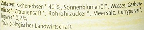 Alnatura Bio Brotaufstrich Kichererbse mit Ingwer, vegan, 6er Pack (6 x 120 g) - 4