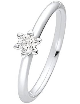 CHRIST Diamonds Damen-Ring Christ Solitaire 585er Weißgold 1 Brillanten ca. 0,20 ct. (weißgold)