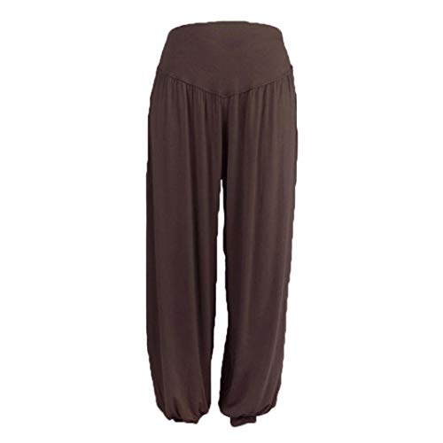 ITISME Jeanshosen Womens Elastic Loose Casual Modal Cotton Soft Yoga Sports Dance Harem PantsHerren Designer Chino Stoff Hose inkl. Gürtel Regular Fit