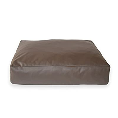 Oblong DOG BED, Faux Leather Removeable cover, High Density Foam,Very robust. easy to store and transport.
