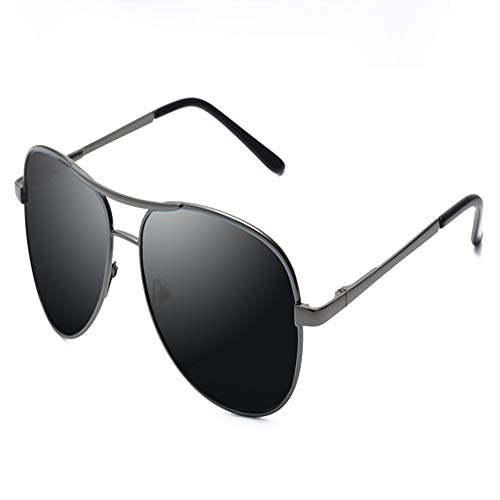 YDOMY 2019 Neue Sonnenbrillen Herrenbrillen Sonnenbrillen Flut Menschen Polarisierte Linsen Fahren Spezielle Fahrer Flut Großes Gesicht Pistole Farbe Rahmen Schwarz Grau Stück