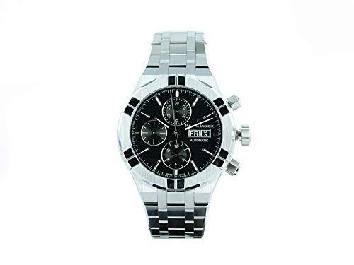 Reloj Automático Maurice Lacroix Aikon Chronograph, Negro, Brazalete de acero