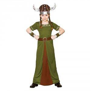 Mädchen Historische Wikinger Kostüm Buch Tag (5-7 Jahre) ()