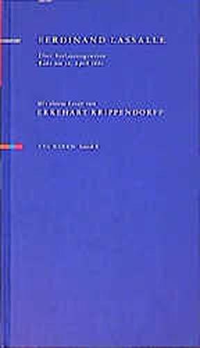 Über Verfassungswesen: Rede am 16. April 1862. Mit einem Essay von Ekkehart Krippendorf (Reden)