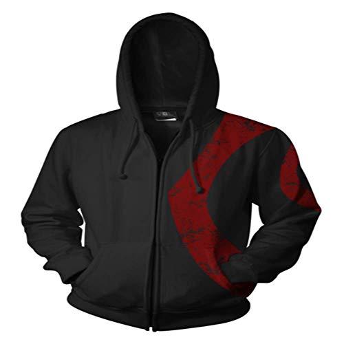 God Of War Ghost Of Sparta Kostüm - RJHWY 3D Hoodie Sweatshirt Unisex Pullover