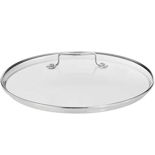 Tefal A43999 Jamie Oliver Edelstahl Glasdeckel (geeignet für alle pfannen mit 28 cm ø, auch Passend E43506 und E85606, Pfannendeckel mit Dampföffnung, Hitzebeständig bis 260 °C),