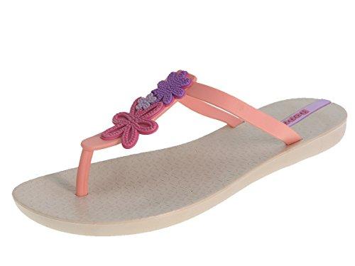 Beppi Damen Zehentrenner Sommerschuhe Badelatschen Pink