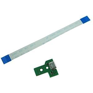 imponic für PS4 Controller Micro USB Port Platine Ladebuchse + Flex Kabel Dualshock 4 2016 Version JDS-030 JDM-030