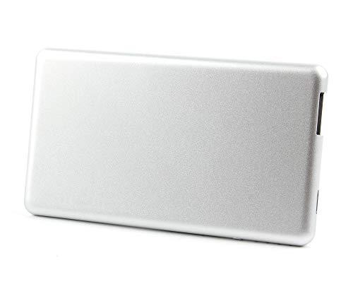 DURAGADGET Für Ihre Lamax Beat Blaze B-1 (IFA 2016) Kopfhörer: SILBERNER Notstromversorgungs-Stick | Emergency Charger | Power Bank | Reiseladegerät | Travel Adapter (1x Mikro-USB, 1x Standard USB) Blaze Audio