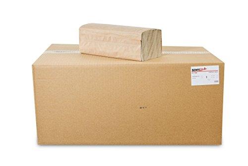 SemyTop Quicky Papierhandtuch, ZZ-Falz, 25 x 23 cm, 1lag, natur, 5000 Blatt, 1er Pack (1 x 1 Stück)