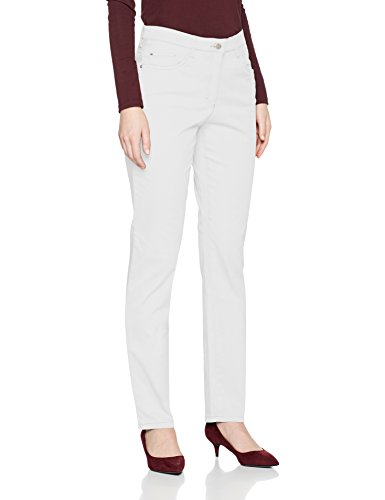 BRAX Damen Mary Sport 78-1557 Slim Fit hose, Weiß (White 99), W46/L32 -