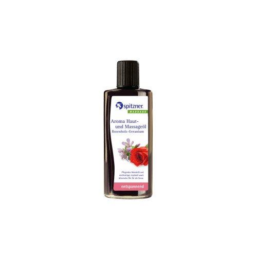 Preisvergleich Produktbild Spitzner Aroma Haut Massageöl Rosenholz Geranium 190 ml
