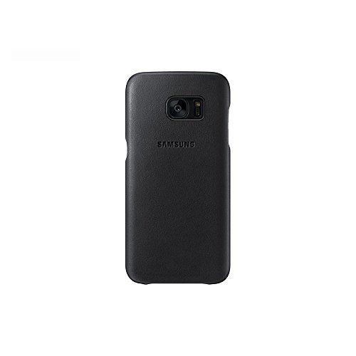 Samsung Coque en cuir pour Samsung Galaxy S7 Noir