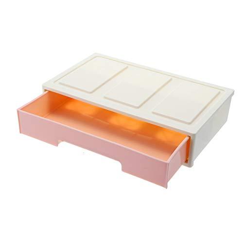 EgBert Schmuck Vanity Case Box Veranstalter Makeup Kosmetik Nagellager-Display W/Drawer - Rosa Rosa Vanity Case