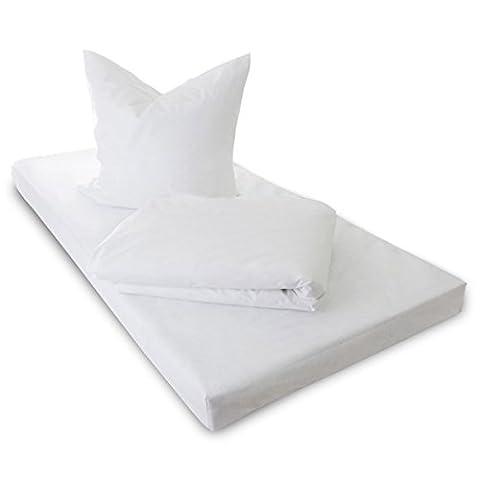 TAURO 24147 Kissen-Bezug gegen Milben | Evolon | Anti-Allergie Schutz | Kissenbezug bei Hausstauballergie | 80 x 80 cm