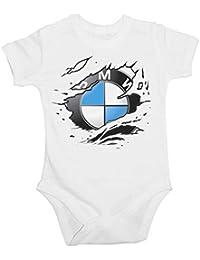 lulchev Diseño Baby Body BMW Ripped Logo Manga Corta 0db5cd3776a