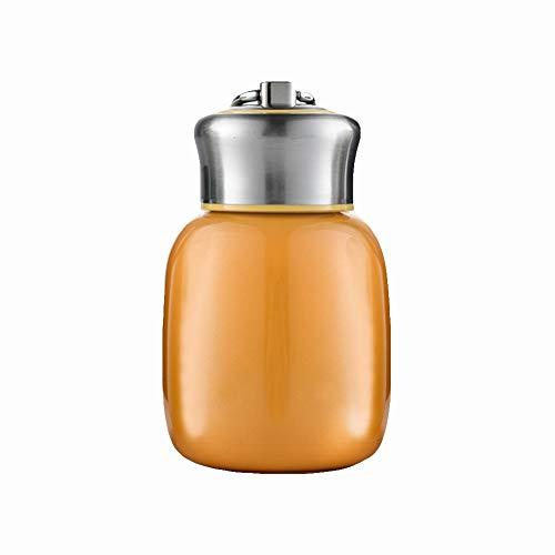 0Miaxudh Thermosflasche, 200ML Kinder Edelstahl Isolierte Vakuum Thermos Wasserflaschen Container Orange (Mädchen Schule Wirklich Heiß)
