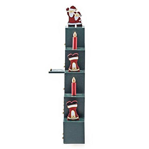 pajoma Adventskalender Pyramide zum Befüllen, aus Holz, Weihnachten