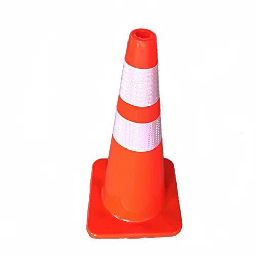 Cône de route de PVC, colonne d'avertissement réfléchissante extérieure d'intersection de lieu de sport d'hôtel de cône de route (taille : 36 * 36 * 70M)