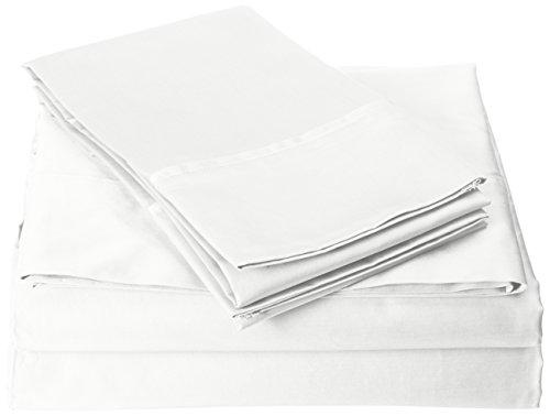 Madison Park Premier Komfort Fadenzahl 600Pima-Baumwolle Satin-Bettlaken-Set, Queen, weiß - Premier Queen Baumwolle