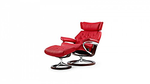 Stressless® Skyline Sessel mit Hocker (M) Rot günstig