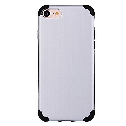 "iPhone 6s Hüllen, iPhone 6 Premium Softcase, CLTPY Ultradünn Air Cushion Stoßfest Schutz Fall, Luxus Camo Motiv Stoßfest Handytasche für 4.7"" Apple iPhone 6/6s + 1 x Stift - Schwarz + Lila Silber A"