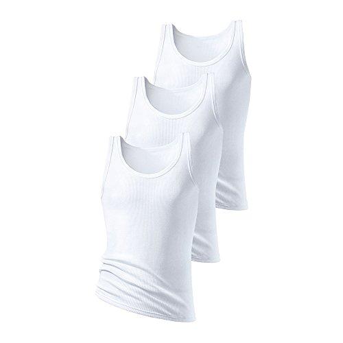 H.I.S Herren Tank Tops, Unterhemden, Doppelripp, (6 (52), weiß)