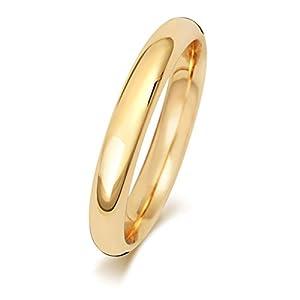 9 Karat (375) Gold 3mm Court Form Herren/Damen – Trauring/Ehering/Hochzeitsring WJS188929KY