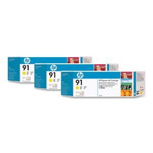 HP C9485A - No. 91 3 Ink Multipack - Yellow, Cartridge - 775ml x 3 -