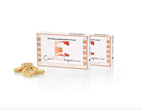 CaniMove hepar maxi Doppelpack mit 2 x 30 Kapseln, Diät-Ergänzungsfuttermittel für große Hunde mit S-Adenosylmethionin (SAMe) und Silymarin zur Unterstützung der Leberfunktion. -