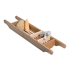 Zeller 25292 – Bandeja para Ducha, Madera de bambú (69 x 14 x 5,5 cm)
