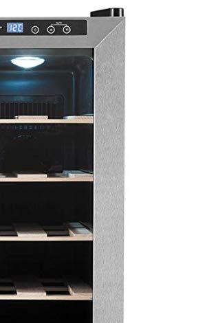 Noble nevera para vinos con 2 puertas de cristal y capacidad para 24 botellas devino. Ajuste de temperaturaregulable por puerta entre 11 y 18ºC. Fácil control desde el exterior por medio de panel táctil tanto de temperatura comode iluminación. Lav...