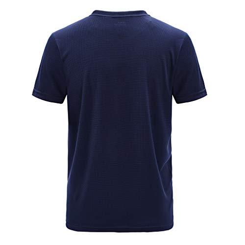 Lässiges Outdoor Sport T-Shirt für Herren, Plus Größe Sport Schnelltrocknend Breathable Tops Bluse Zolimx