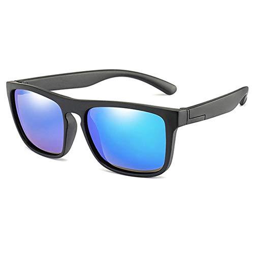 LAMAMAG Sonnenbrille Kids Polarized Sonnenbrillen Vintage Jungen Mädchen Platz Sonnenbrille UV400 Eyewear Kind Shades Gafas, e