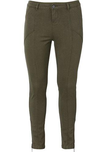 Hose mit Ziernähten Damen Langgröße von Sheego in Farbe Oliv Oliv