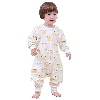 –Saco de dormir para bebé Baby Pijama Invierno Pelele Split Pierna con mangas extraíbles y algodón Cloud Pattern Soft Sleep Wear