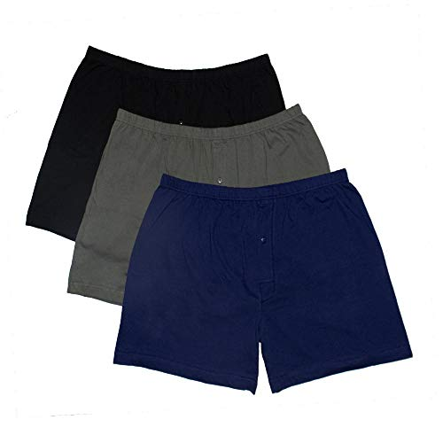 Bigdale - 3er Pack American Boxershorts - Übergrößen bis 10XL / Black/Navy/Grey, 24 / 10XL